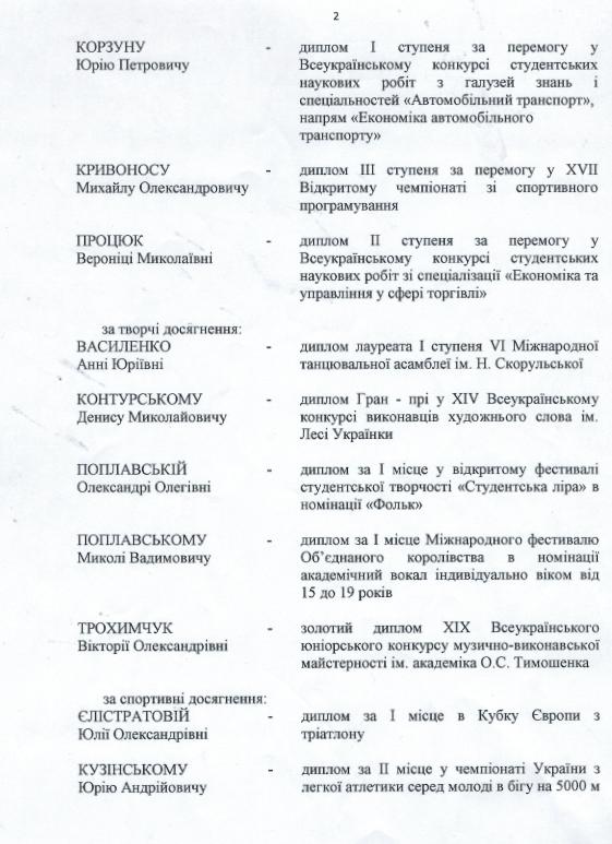 ob stip2 - Житомирська ОДА виплатить по 10 тис. грн стипендій 20 представникам обдарованої молоді. Список