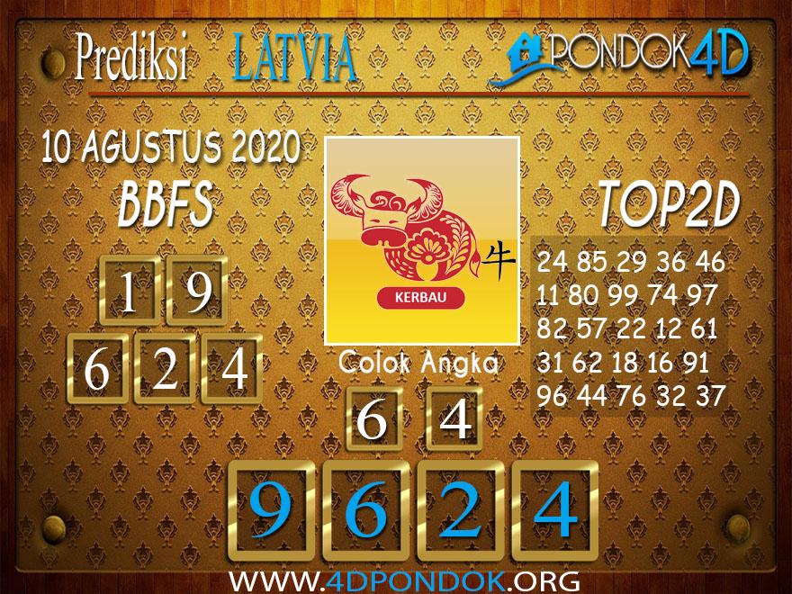 Prediksi Togel LATVIA POOLS PONDOK4D 10 AGUSTUS 2020