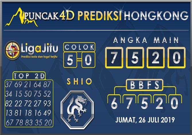 PREDIKSI TOGEL HONGKONG PUNCAK4D 26 JULI 2019
