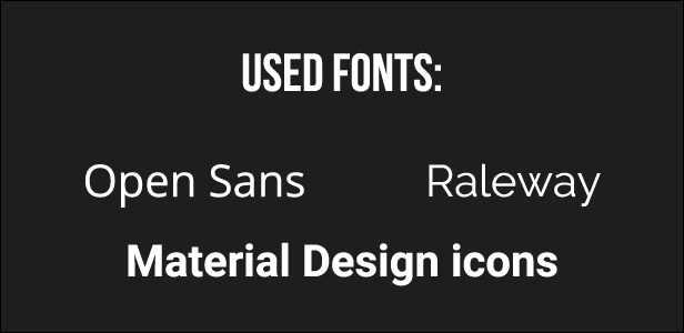 used fonts