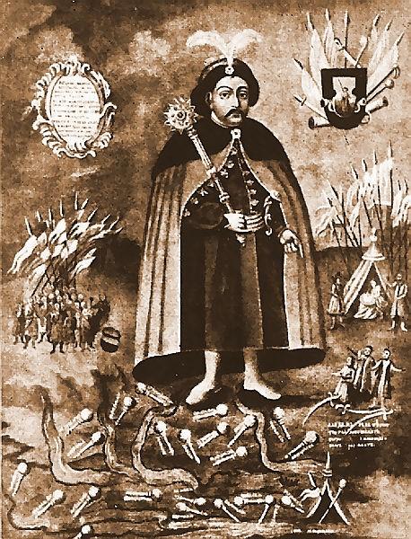 Мапа Української козацької держави періоду Хмельниччини