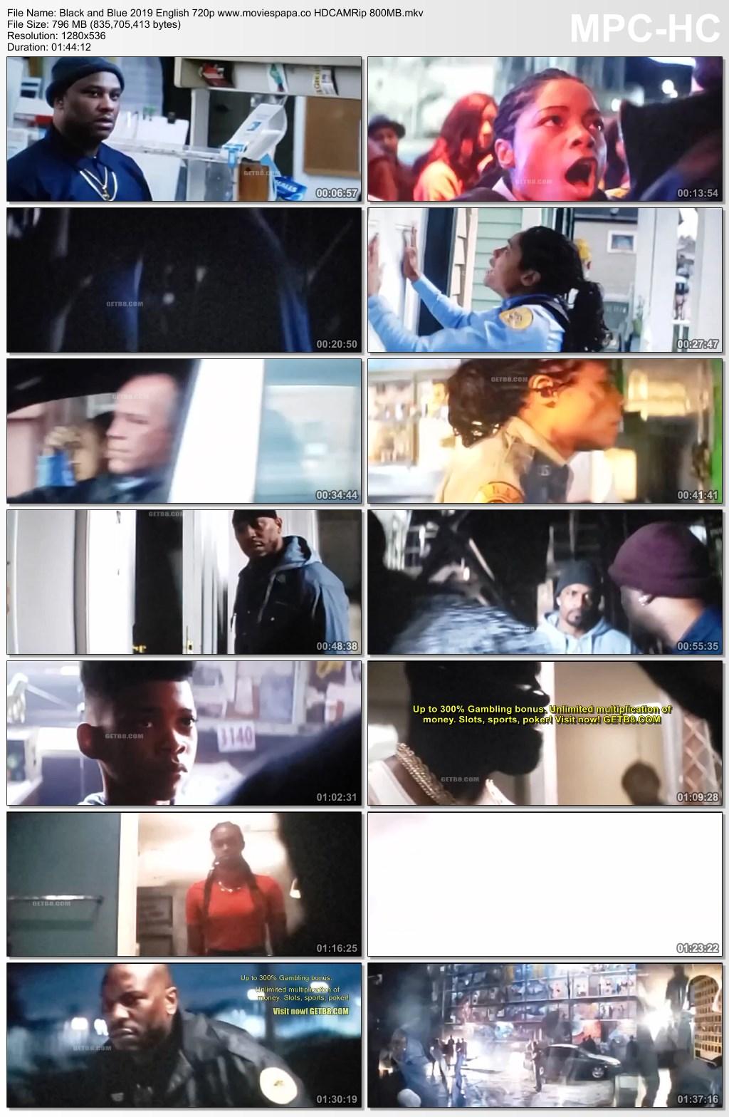 Black and Blue 2019 English Full Movie 720p HDCAMRip 800MB ...