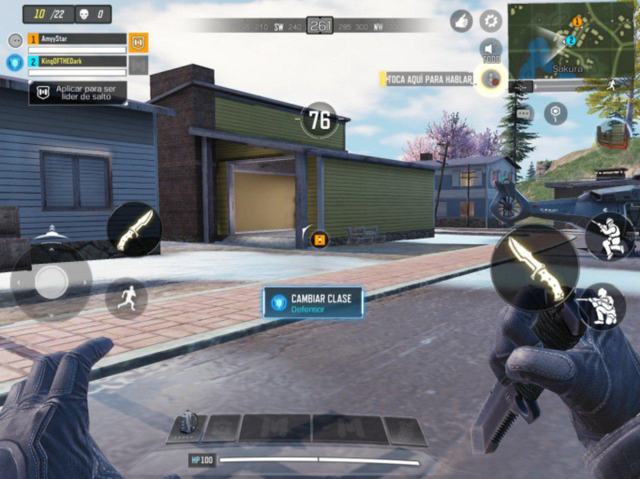 The knife, knife of the game Call of Duty Mobile