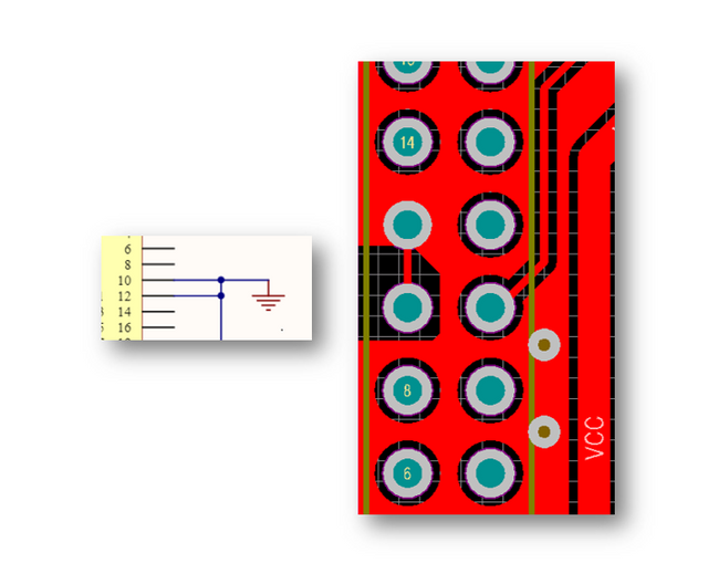 Connected Pins GPIO