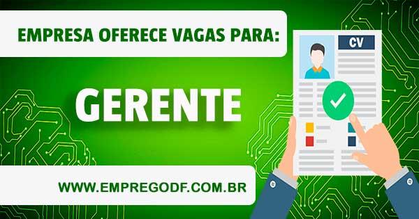 EMPREGO PARA GERENTE DE VENDAS