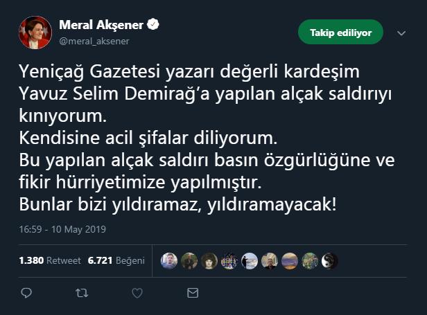 Meral Akşener tweet