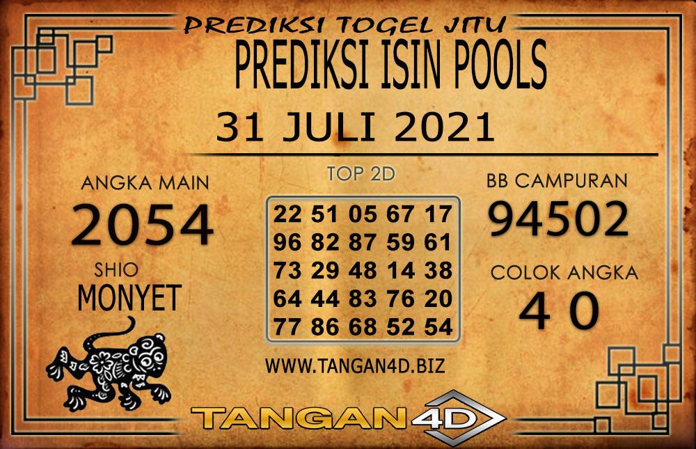 PREDIKSI TOGEL ISIN TANGAN4D 31 JULI 2021