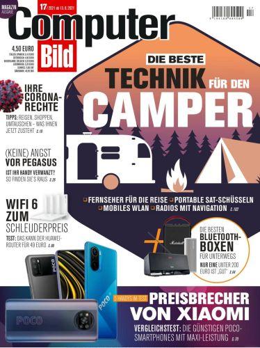 Cover: Computer Bild Magazin No 17 vom 13  August 2021
