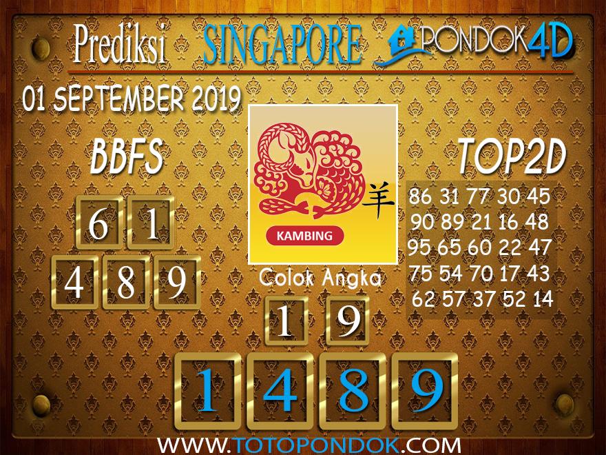Prediksi Togel SINGAPORE PONDOK4D 01 SEPTEMBER 2019