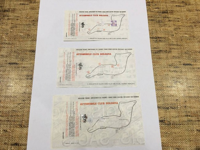 Senna 1994 san marino f1 race tickets 1