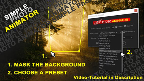 Simple Photo Animator 26668218 - Project & Script for After Effects (Videohive)