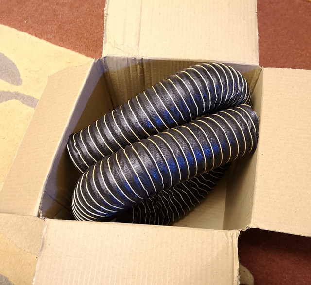 Sourced from T7 Design on eBay.  This 55mm ducting looks to be an ideal match to the original ducting still present on the car.