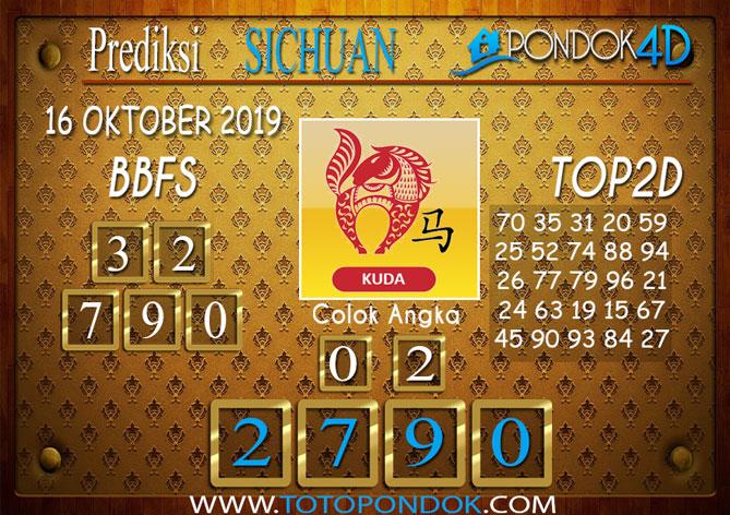 Prediksi Togel SICHUAN PONDOK4D 16 OKTOBER 2019