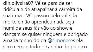 """Simaria vira alvo de polêmica depois de ter dado bronca em fãs durante um show: """"Pode ir embora"""""""