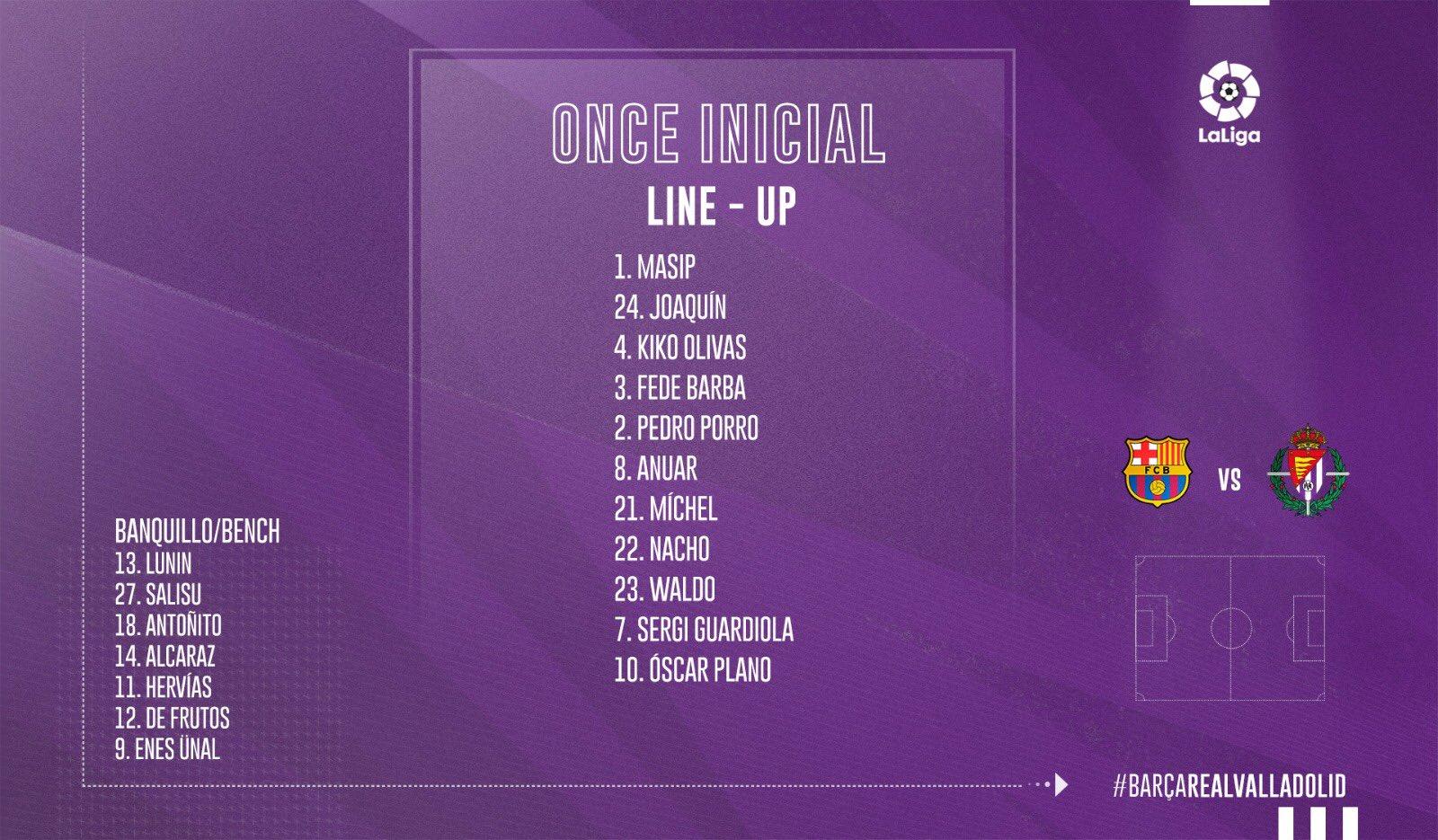 F.C. Barcelona - Real Valladolid C.F. Martes 29 de Octubre. 21:15 IMG-20191029-200422