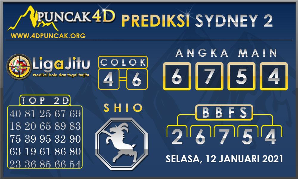 PREDIKSI TOGEL SYDNEY2 PUNCAK4D 12 JANUARI 2021