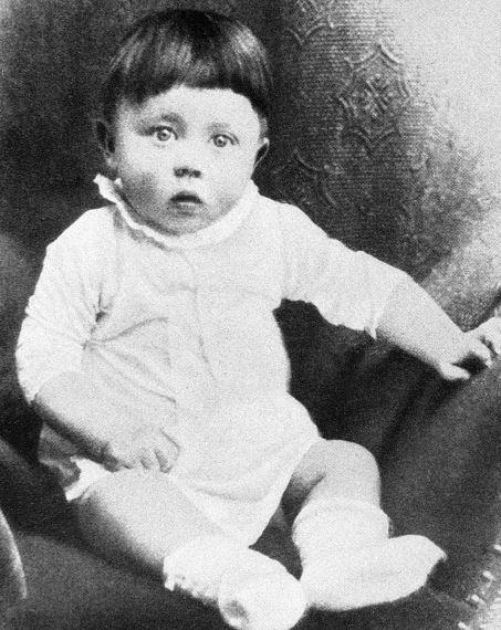 Childhood photo of Adolf Hitler.