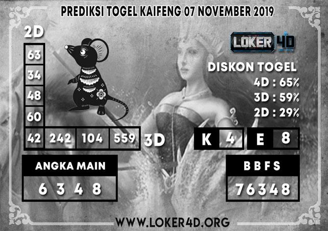 PREDIKSI TOGEL KAIFENG LOKER4D 07 NOVEMBER 2019