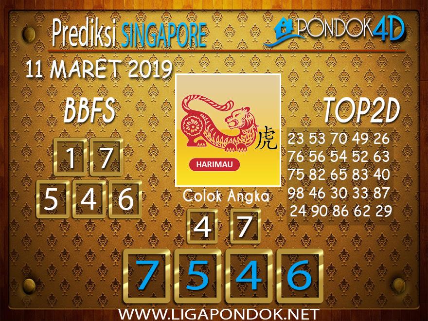Prediksi Togel SINGAPORE  PONDOK4D 11 MARET 2019