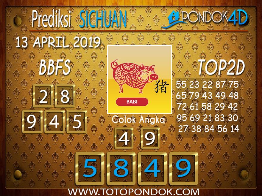 Prediksi Togel SICHUAN PONDOK4D 13 APRIL 2019