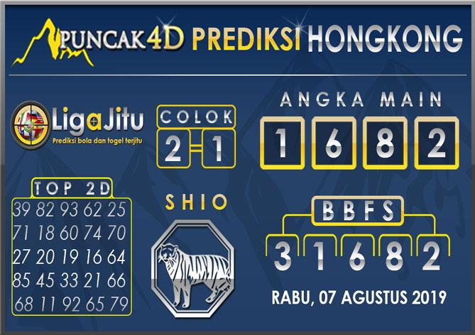 PREDIKSI TOGEL HONGKONG PUNCAK4D 07 AGUSTUS 2019