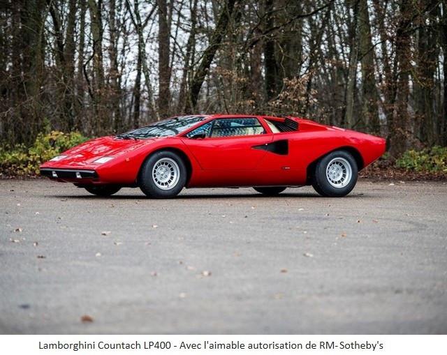 Lamborghini Miura SV et Countach LP 400 «Periscopio» atteignent des prix records à la vente RM Sotheby's Paris 579668-v3