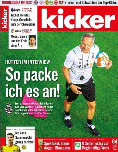 Cover: Kicker Sportmagazin No 64 vom 09  August 2021