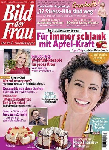Cover: Bild der Frau Magazin No 37 vom 10  September 2021