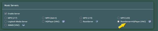 Roon Server HQP