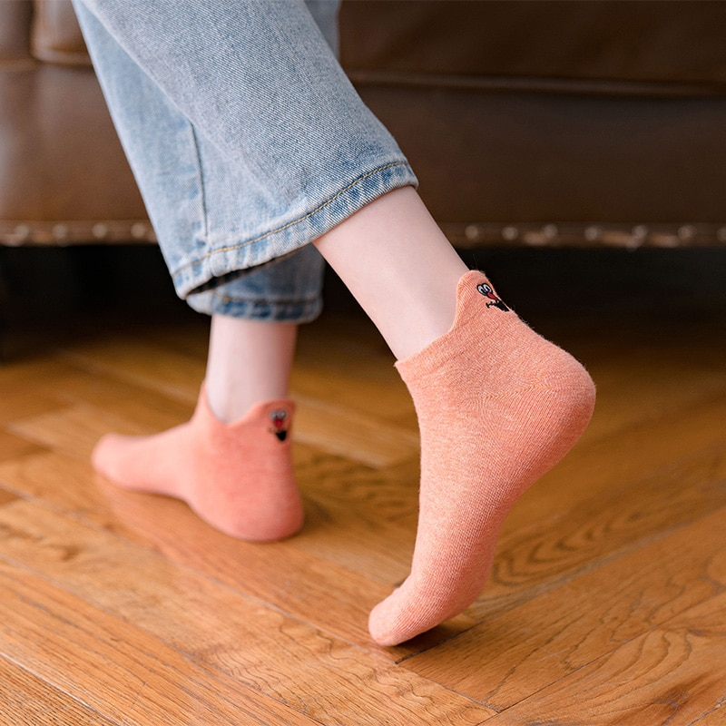 0-Instime-4-Pairs-Pack-Kawaii-Socks-Women-Ankle-Women-Socks-Cotton-Funny-Expression