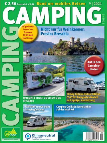 Cover: Camping Magazin No 09 September 2021