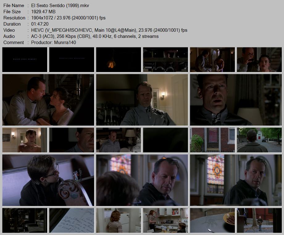El Sexto Sentido (1999) x265 10 Bits 1080p Latino