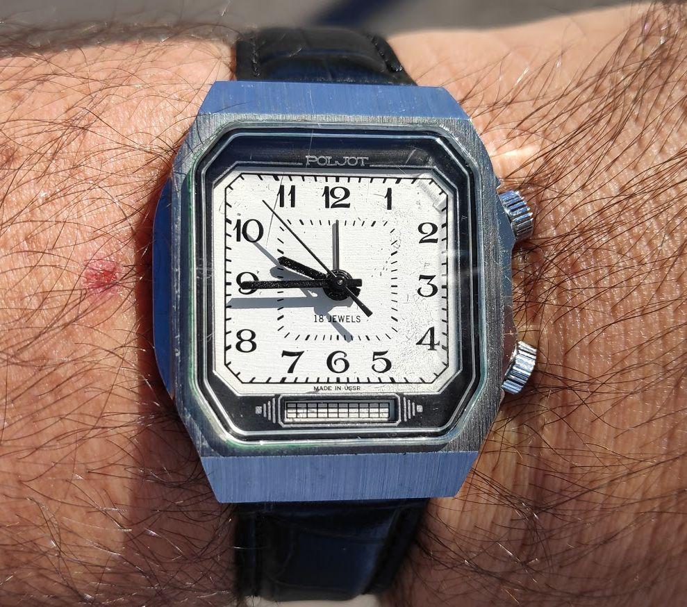 Relógio do Dia Poljot-Alarme2