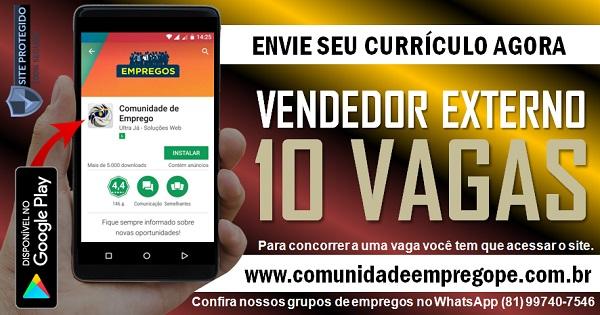VENDEDOR EXTERNO PORTA A PORTA, 10 VAGAS PARA EMPRESA DE TELECOMUNICAÇÕES