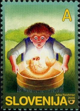 Slovenia stamps CHILD-S-BOOK-FIGURE-2005-3