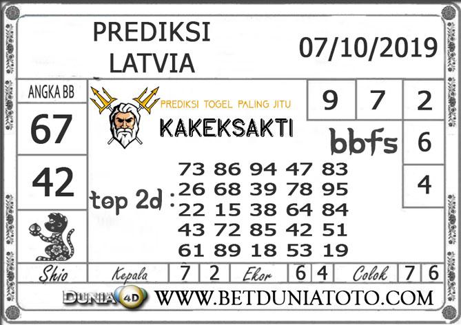 """Prediksi Togel """"LATVIA"""" DUNIA4D 07 OKTOBER 2019"""