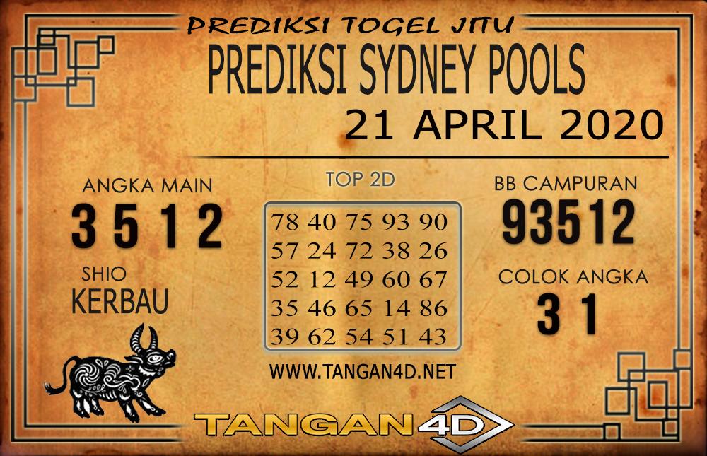 PREDIKSI TOGEL SYDNEY TANGAN4D 21 APRIL 2020