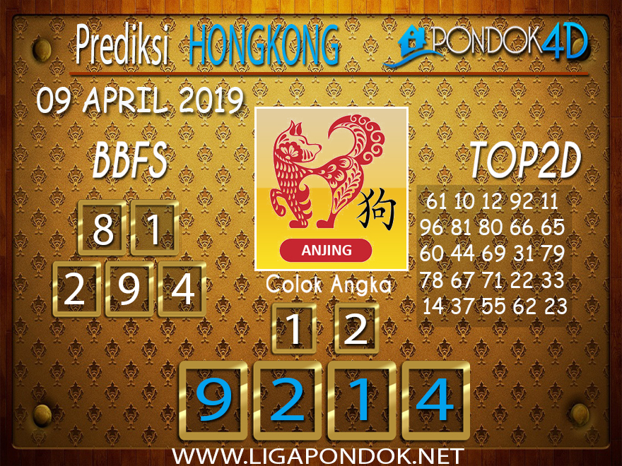 Prediksi Togel HONGKONG PONDOK4D 09 APRIL 2019