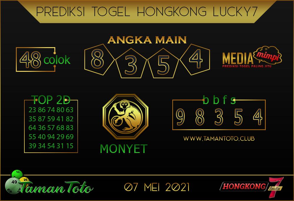 Prediksi Togel HONGKONG LUCKY 7 TAMAN TOTO 07 MEI 2021