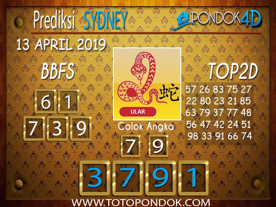 Prediksi Togel SYDNEY PONDOK4D 13 APRIL 2019