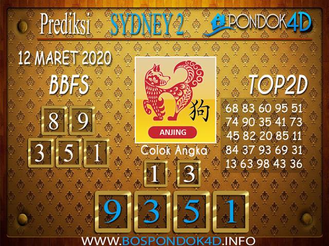 Prediksi Togel SYDNEY 2 PONDOK4D 12 MARET 2020