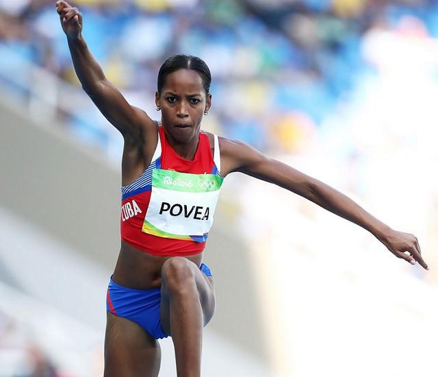 RIO-DE-JANEIRO-BRAZIL-AUGUST-13-Liadagmis-Povea-of-Cuba-competes-in-Women-s-Triple-Jump-Qualifying-o