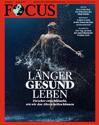Cover: Focus Nachrichtenmagazin No 35 vom 28  August 2021