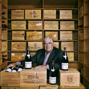 Thomas-O-Ryder-Corporate-Boardmember-Investor-Photographed-in-his-private-wine-cellar-with-some-of-h