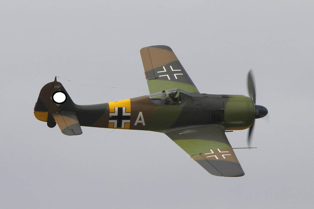 The first flight of the Focke Wulf FW 190 aircraft after restoration