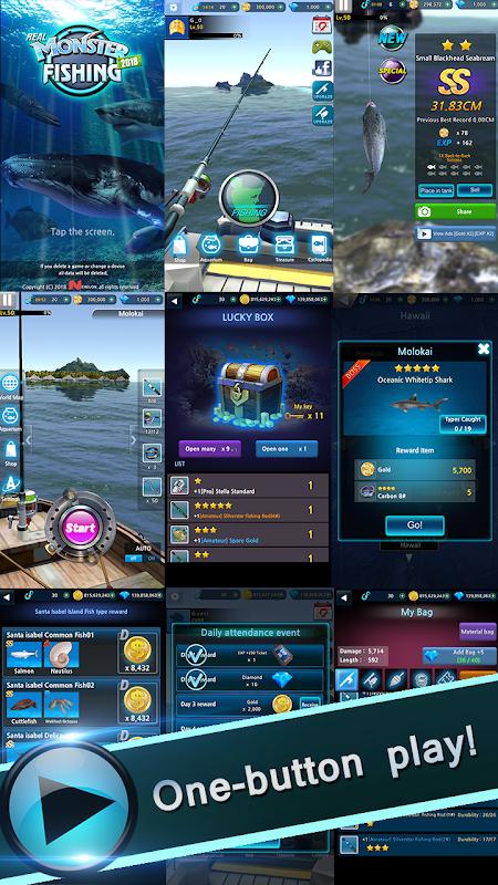 Monster Fishing 2020 (MOD, Diamonds/Gold/Hooks)