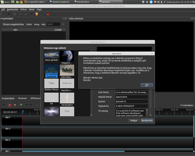 Openshot Blender