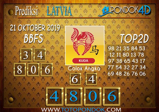 Prediksi Togel LATVIA POOLS PONDOK4D 21 OKTOBER 2019