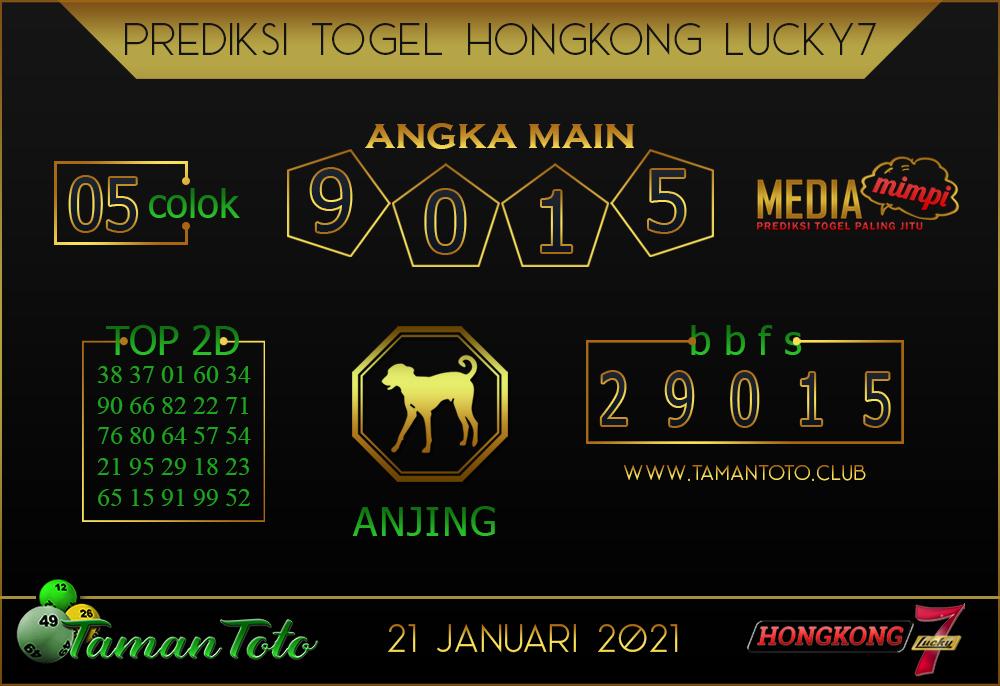 Prediksi Togel HONGKONG LUCKY 7 TAMAN TOTO 21 JANUARI 2021