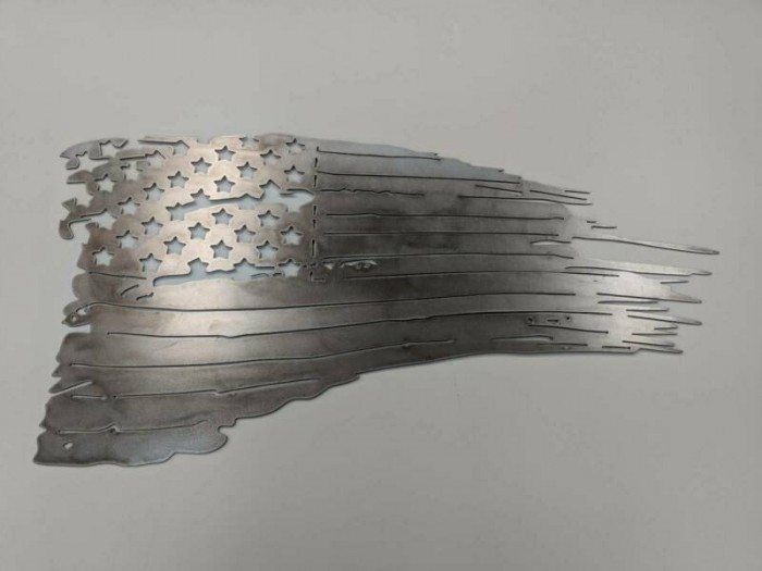 U.S FLAG TATTERED AND TORN METAL ART 9